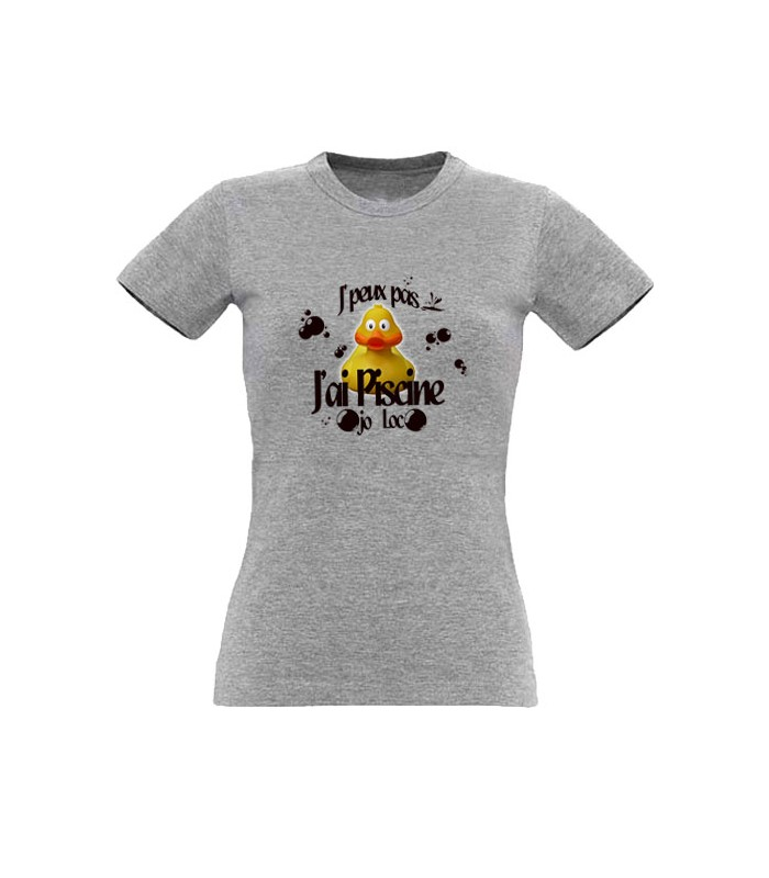 T shirt j 39 peux pas j 39 ai pisicne for T shirt piscine