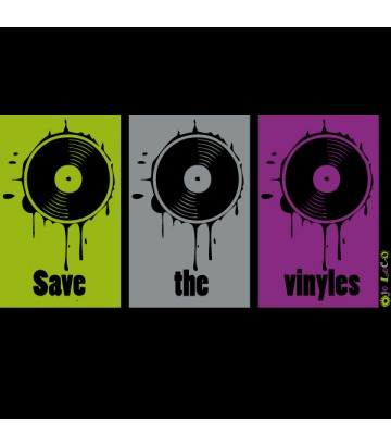 Tee shirt Save the vinyles