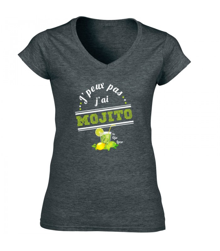 T shirt j 39 peux pas j 39 ai mojito for Tee shirt j peux pas j ai piscine