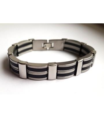 Bracelet acier bicolore