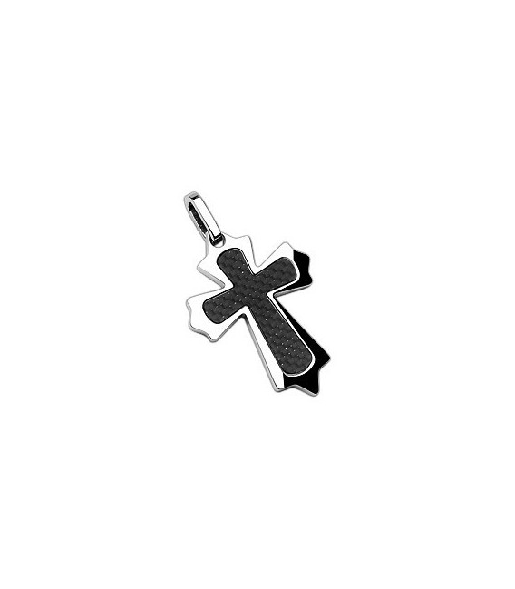 Pendentif Croix acier