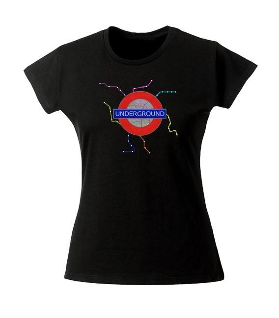 Tee shirt original carte de métro Underground
