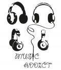 Tee shirt Music Addict