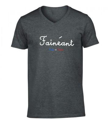Tee shirt humour Fainéant Président Emmanuel Macron
