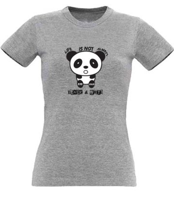 Tshirt original femme avec un panda