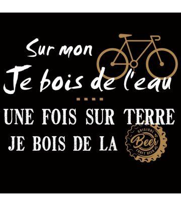 tee shirt humoristique vélo et bière
